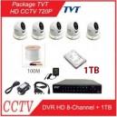 8-CH AHD CCTV 720P