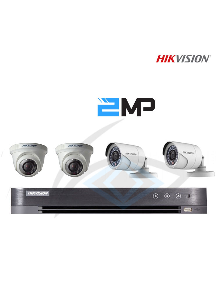 Hikvision Turbo HD 4CH CCTV Packages