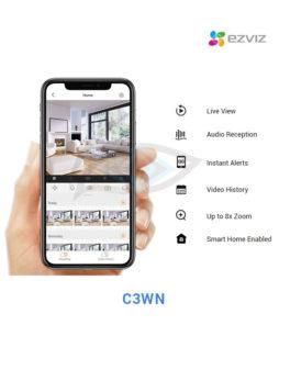 ezviz C3WN mobile on movile phone